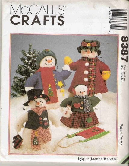 McCall's Crafts 8387 Snow Family