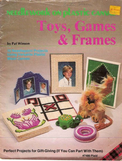 Toys, Games, and Frames in Plastic Canvas