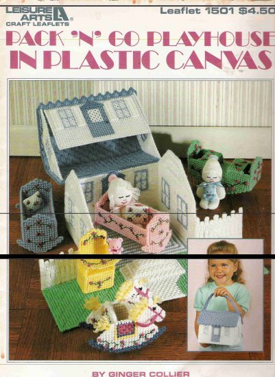 Pack N Go Playhouse in Plastic Canvas Leaflet 1501