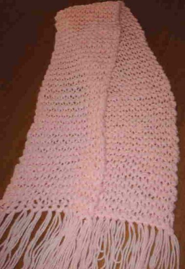 Pink Knitted Winter Scarf