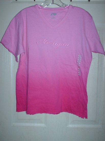 Ladies Michigan Shirt Pink