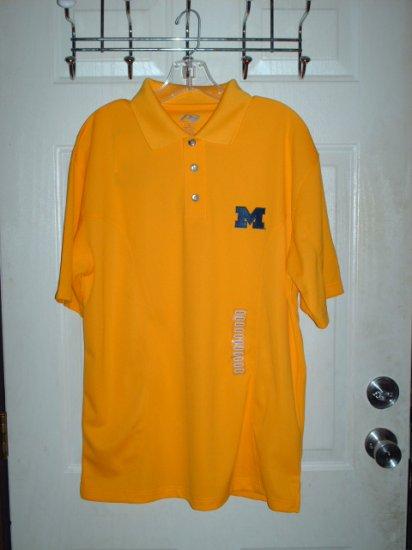 Men's Michigan Polo Shirt Sz Medium