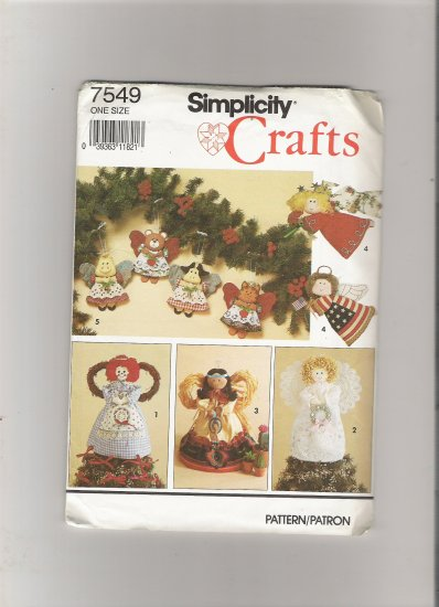 Simplicity 7549 Angel Tree Topper or Standing Decoration