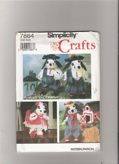 Simplicity 7864 Stuffed Dalmatian and Clothes