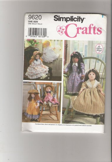 "Simplicity 9620  25"" Doll and Clothes"