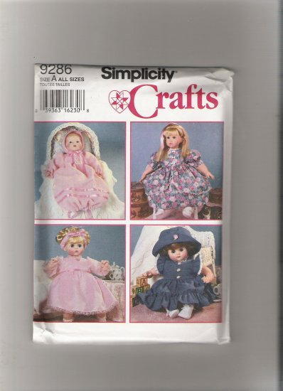 Simplicity 9286 Design Your Own Doll Clothes
