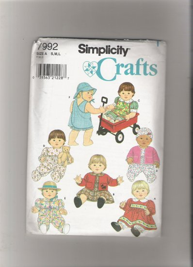Simplicity 7992 Wardrobe for Baby Dolls