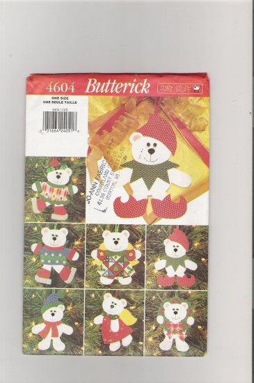 Butterick 4604 Christmas Bear Ornaments