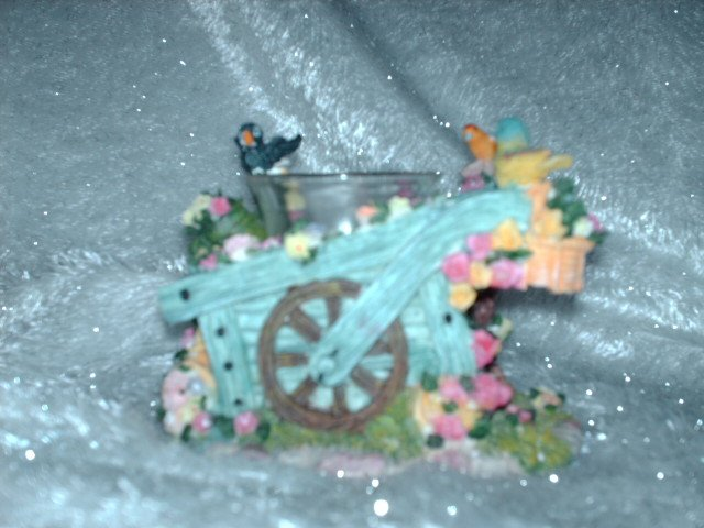 Wheelbarrow Votive Candle Holder - NIB