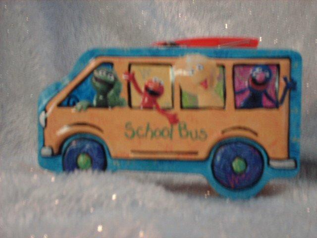 Sesame Street Character School Bus Tin Box