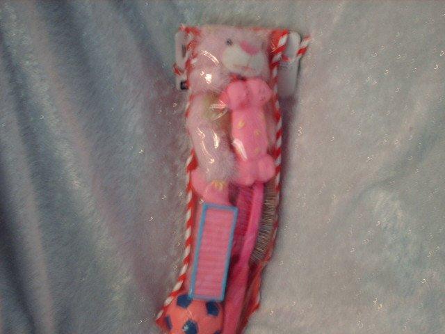 Pink Doggie Toy filled Stocking