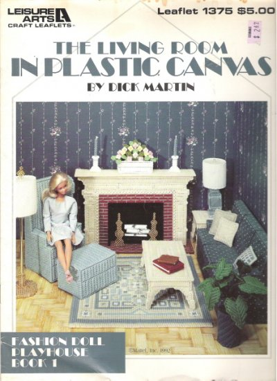 The Living Room in Plastic Canvas Book for Fashion Dolls #2PCSC