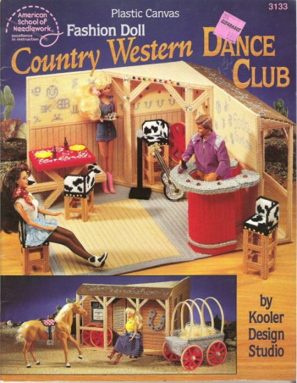 Plastic Canvas Fashion Doll Country Western Dance Club Pattern Book #1PCSC