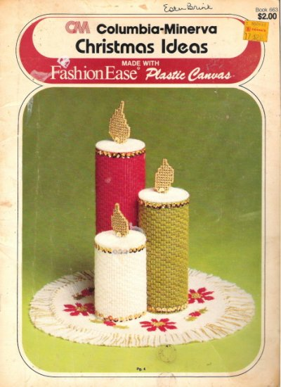 Columbia-Minerva Christmas Ideas made with Fashion Ease Plastic Canvas Book #2PCSC