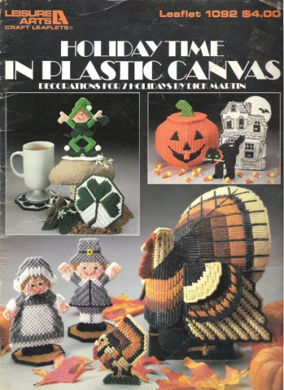 Holiday Time in Plastic Canvas Leisure Arts Leaflet 1092 #2PC