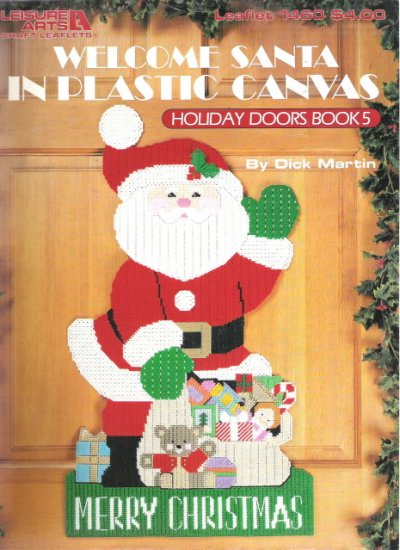 Leisure Arts Leaflet 1460 Welcome Santa in Plastic Canvas