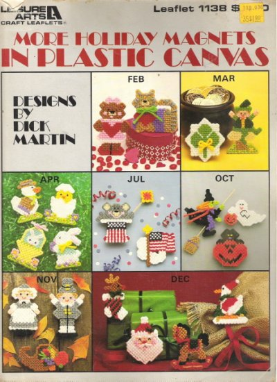 Leisure Arts Leaflet 1138 More Holiday Magnets in Plastic Canvas #1PCSC