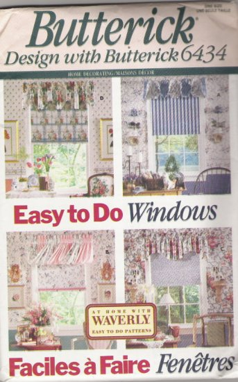Butterick 6434 At Home WIth Waverly Easy to do Windows