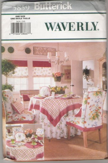 Butterick 5859 Waverly Tea TIme Accessories