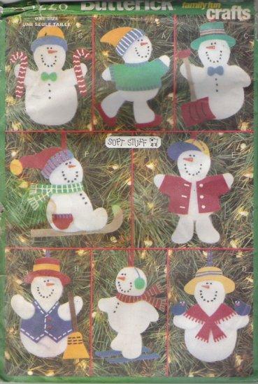 Butterick 5228 Snowman Ornaments