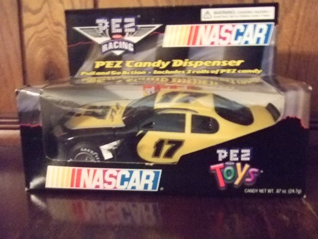 Nascar Racing Pez Candy Dispenser Yellow # 17 Matt Kenseth
