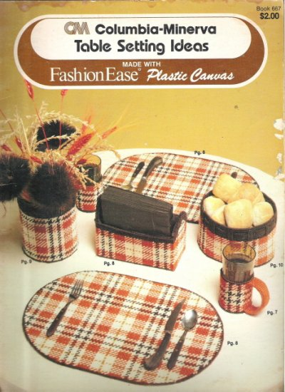 Columvia-Minerva Table Setting Ideas made with Fashion Ease Plastic Canvas #2PCSC