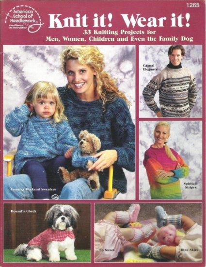 American School of Needlework #1265 Knit it! Wear it!