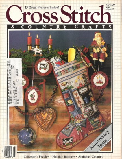 Cross Stitch & Country Crafts Magazine July/August 1987