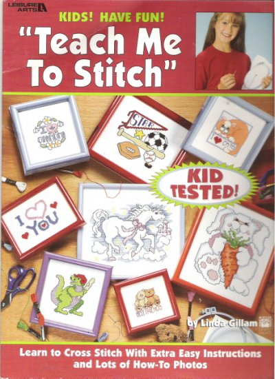 Teach Me To Stitch Leisure Arts Cross Stitch Book