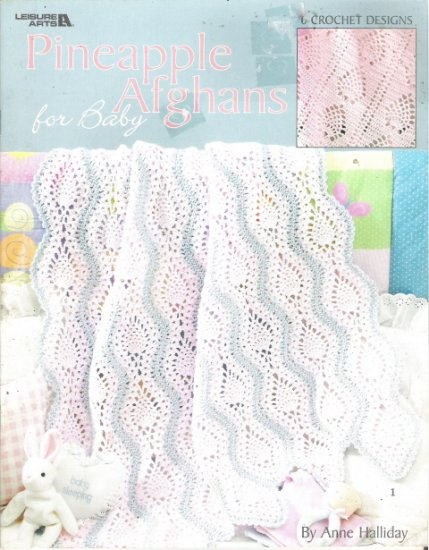 Leisure Arts Crochet Pineapple Afghans for Baby