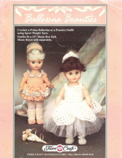Fibre Craft Crocheted Ballerina Beauties Craft Patterns