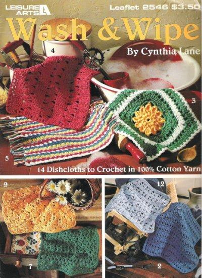 Leisure Arts Leaflet 2546 Wash & Wipe Crochet Cloths