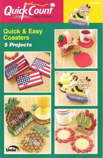 Plastic Canvas Quick Count Quick & Easy Coasters