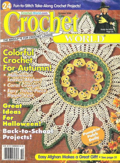 Crochet World Magazine October 2000