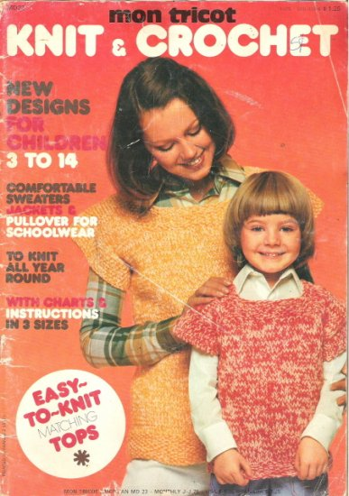 Mon Tricot Knit & Crochet Magazine June-July 1975