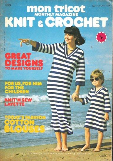 Mon Tricot Knit & Crochet Magazine May 1976