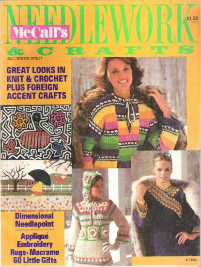 McCall's Needlework and Crafts Magazine Fall/Winter 1976-77 Vintage