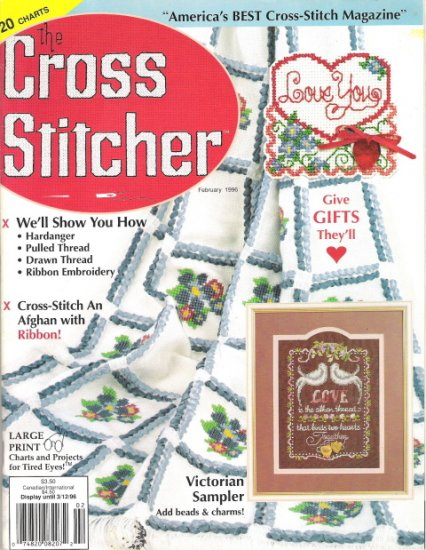 The Cross Stitcher Magazine February 1996 Volume 12 Number 6