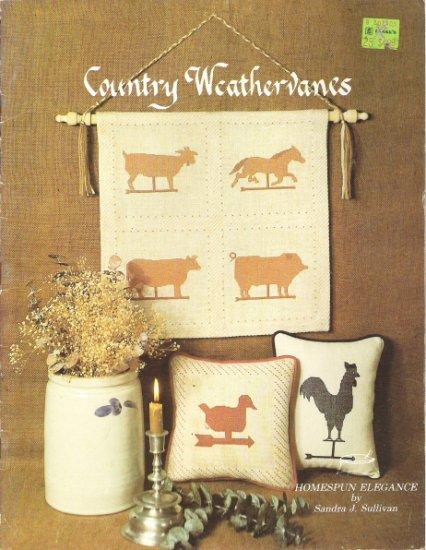 Country Weathervanes Cross Stitch Craft Book
