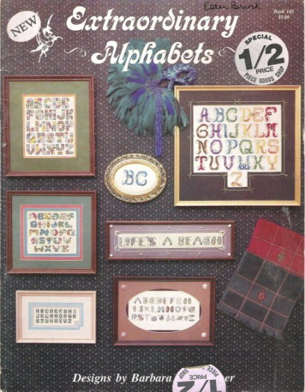 Extraordinary Alphabets Cross Stitch Chart Book