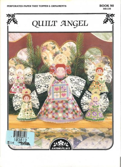 Astor Place Book 90 Quilt Angel Ornaments and Tree Topper