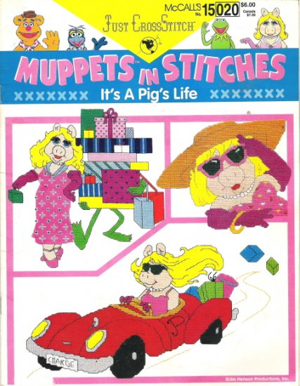 McCall's Number 15 020 Just Cross Stitch Muppets in Stitches It's a Pig's Life