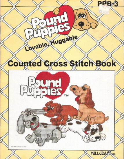 Pound Puppies Loveable, Huggable Counted Cross Stitch Book