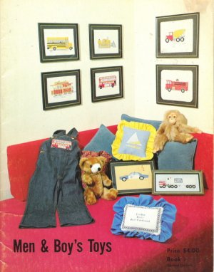 Men & Boy's Toys Counted Cross Stitch