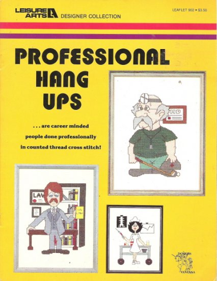 Leisure Arts Professional Hang Ups Counted Cross Stitch