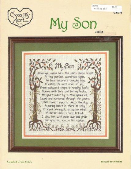 Cross My Heart My Son Poem Cross Stitch Leaflet
