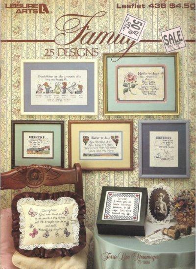 Leisure Arts Leaflet 436 25 Family Designs