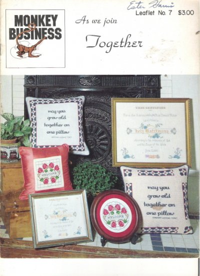 As We Join Together Leaflet No. 7 Counted Cross Stitch
