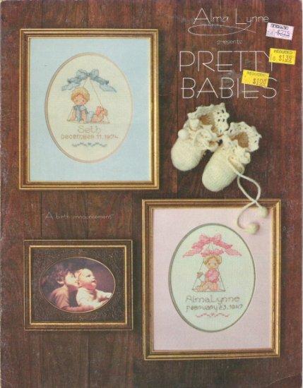 Alma Lynne Presents Pretty Babies in Counted Cross Stitch