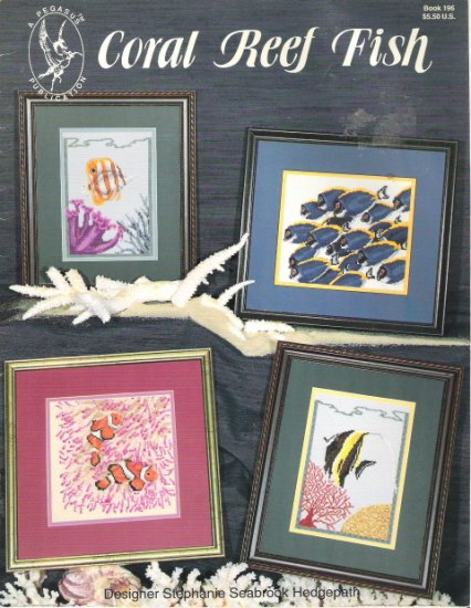 Coral Reef Fish Cross Stitch Book 196